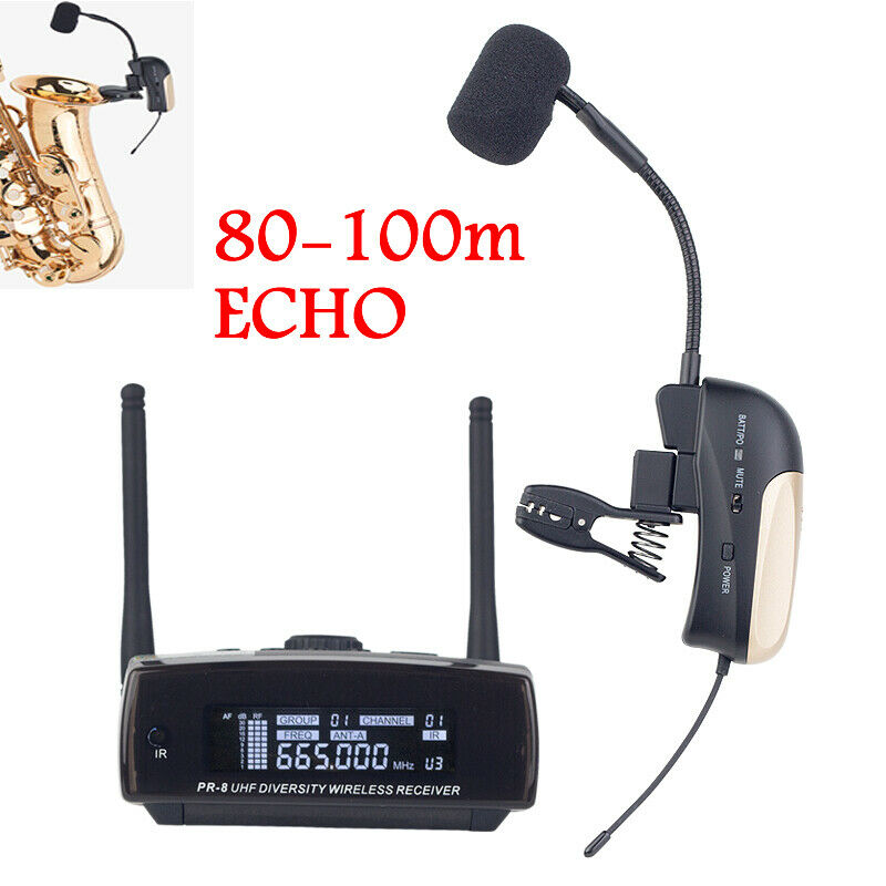 UHF Professional Wireless Instrument ECHO für Saxophon Trompete 100M