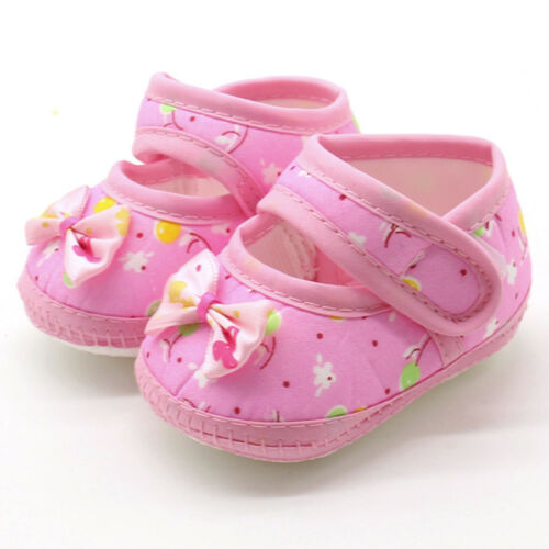 Lovely Newborn Infant Bowknot Girls Soft Soles Prewalker Warm Casual Flats Shoes