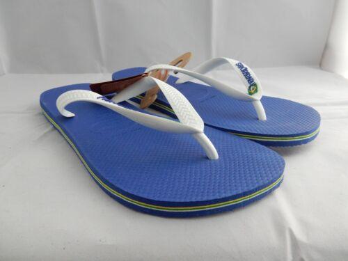 Homme HAVAIANAS Bleu Tongs noir taille 45//46 Bleu Entièrement neuf dans sa boîte Brasil Logo