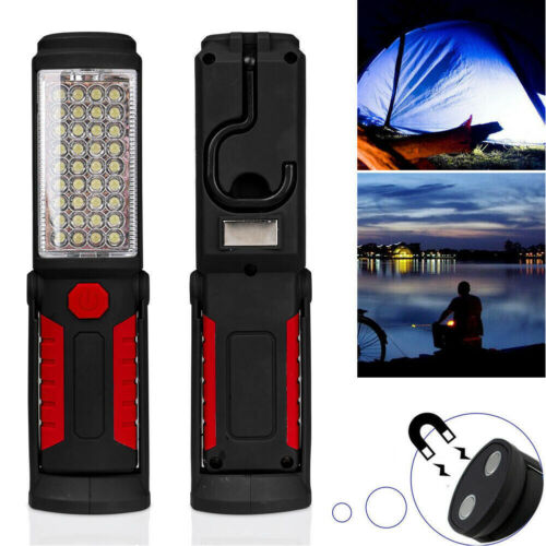 LED Rechargeable Inspection COB Lamp Work Light Flexible Hand Torch Magnetic Red
