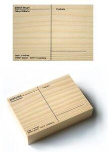 15x11x3  NEU Filzpostkarte/< 2 Original Siebdrucke JOSEPH BEUYS />Holzpostkarte