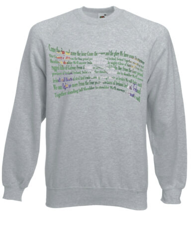 Ireland/'s Call Rugby Anthem Inspired Jumper Sweatshirt Sweat Top AE45