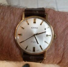 Solid 9k ROAMER Mens Manual Swiss Watch 1970s  EXLNT CONDITION