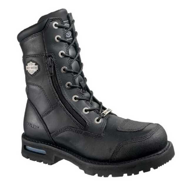 NEW Harley Davidson Mens Leather Boot Boots Shoes Medium Black Riddick