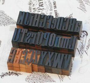A-Z-mixed-Alphabet-Holzbuchstaben-27-mm-Lettern-Holzlettern-Vintage-wood-type