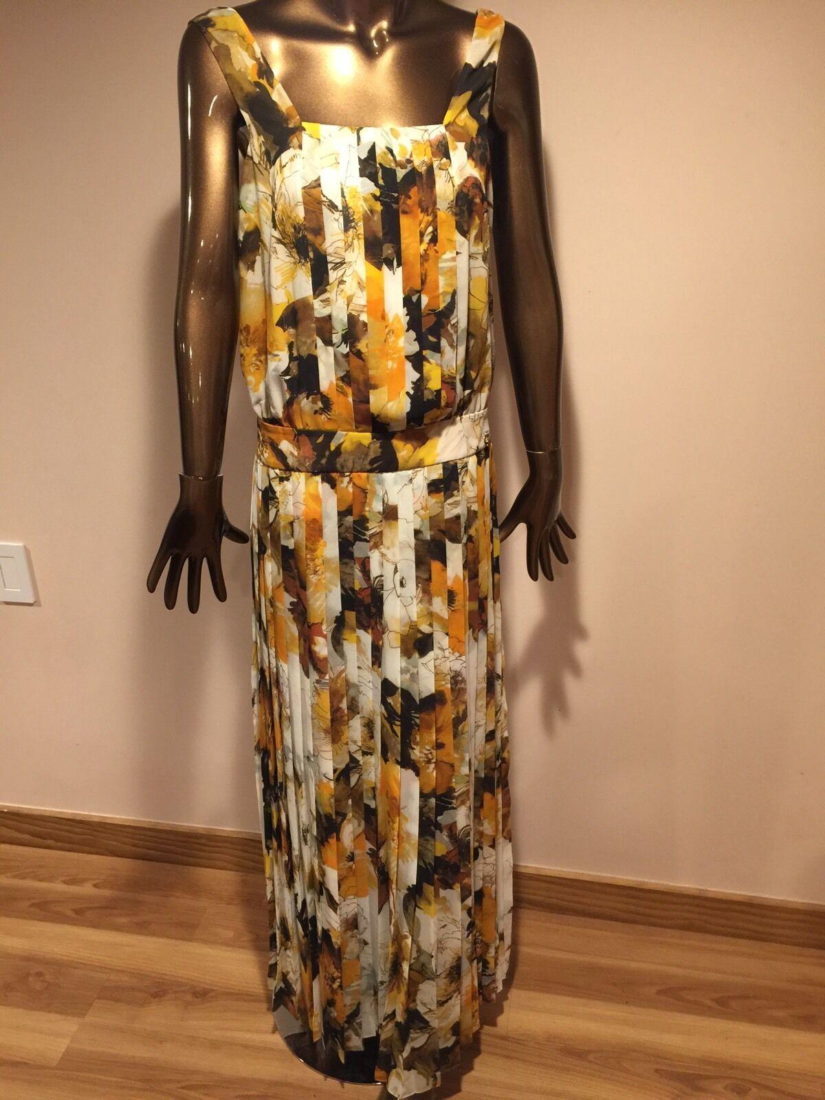 Robe longue plissée imprimé floral par 4 G Gizia neuf sans Original étiquettes Taille 6