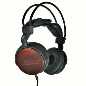 High End Headphones >> Details About Ess Speaker Labs Ess Rlm 713 Real Ebony Wood Premium High End Headphones Natural
