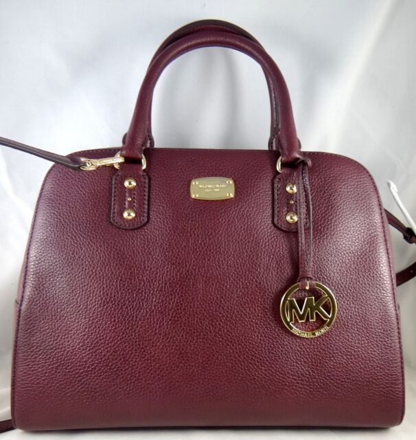 3b85d368d38a Michael Kors Sandrine Plum Pebbled Leather Large Satchel Bag for ...