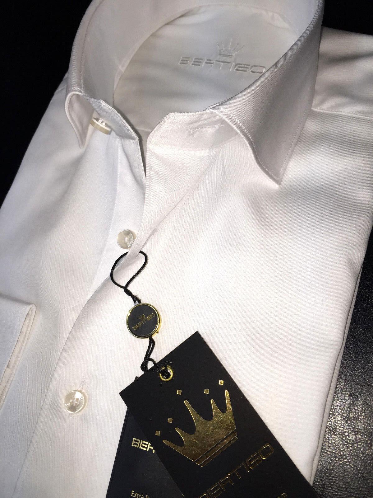 BERTIGO dress shirt OREN-05 Weiß ( schwarz label )