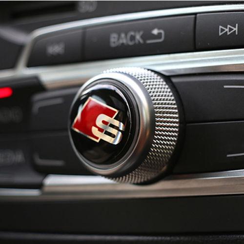 2ps S Line Car Audio Multimedia Steering Wheel Button Sticker Size 2cm Emblems