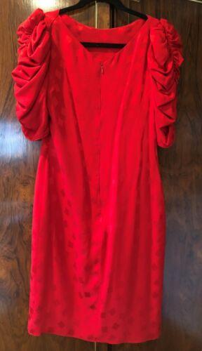 Mollie Parnis Sik Jacquard Dress