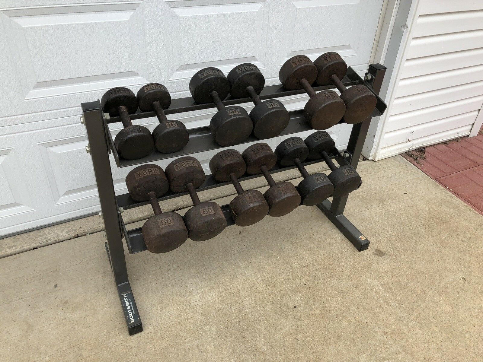 York Dumbbells - Gym Equipment - Vintage