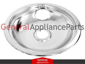 """GE General Electric Stove Range Cooktop 8"""" Burner Chrome Drip Bowl WB32X5091"""