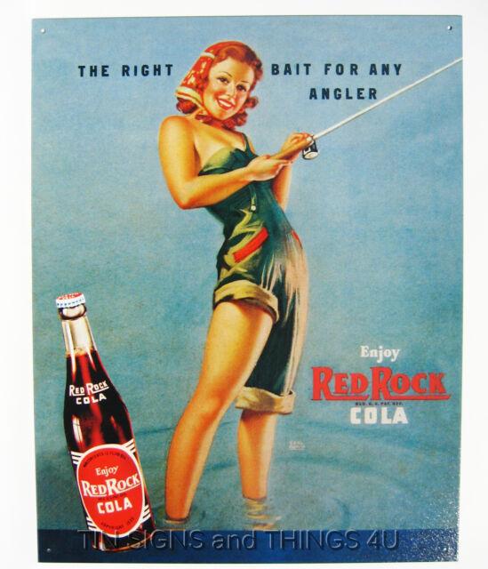 Coca Cola Retro Soda Fountain Girls TIN SIGN metal wall
