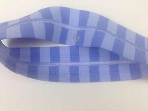 NWT-Lululemon-Apex-Blue-Lavender-Stripe-Fly-Away-Tamer-Headband-Hairband