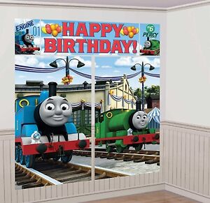 Image Is Loading THOMAS The TRAIN SCENE SETTER Birthday Party Wall