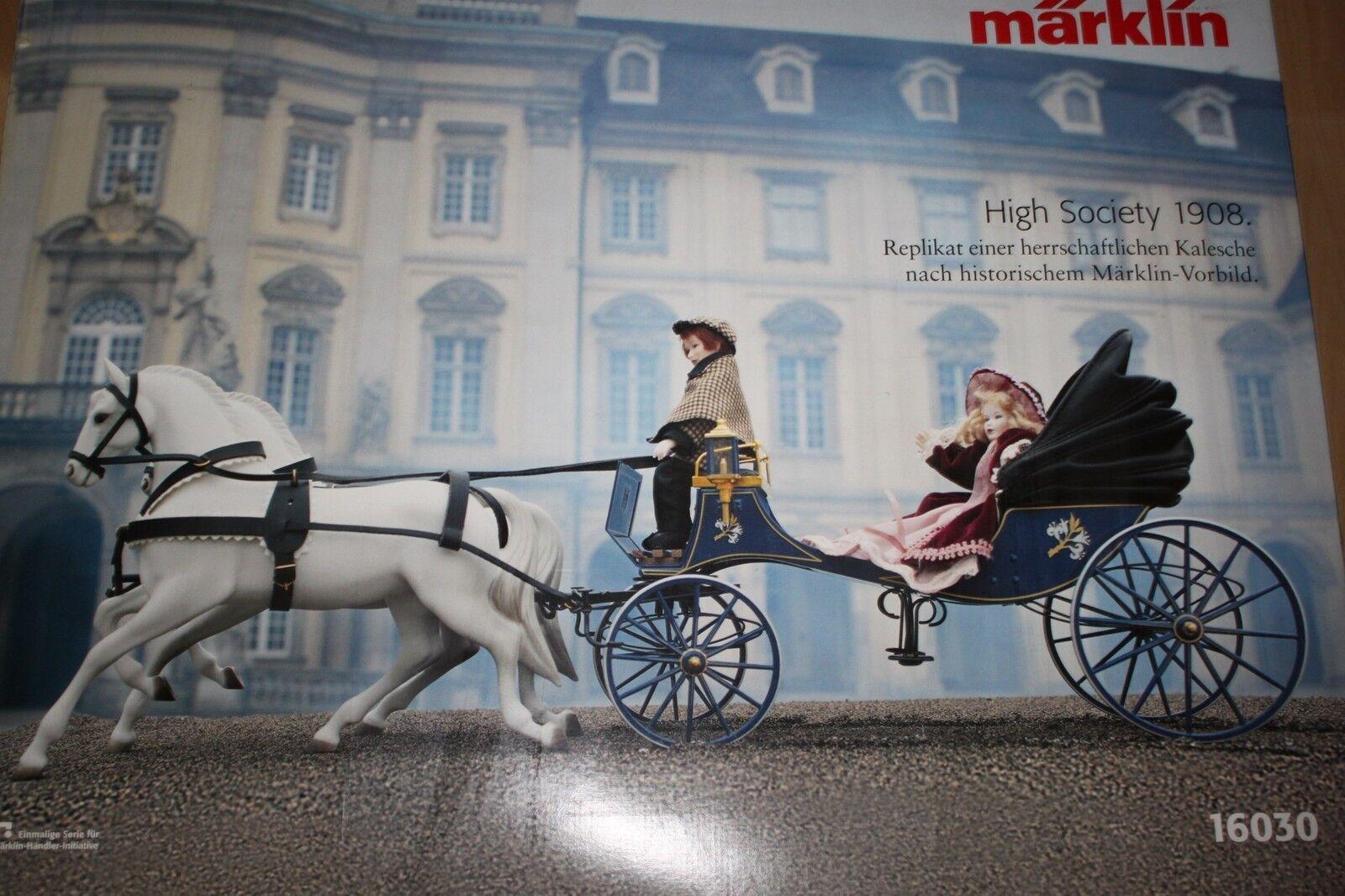 Märklin 16030 nobiliare kalesche bambole carrozza e cavalli PORCELLANA OVP