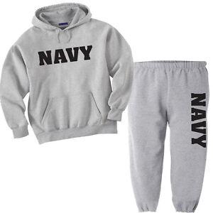 US Navy Men/'s Xtreme Endurance Navy Anchor Sweat Pants Drawstring waist Dk Navy