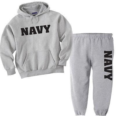 US United States Navy USN black open bottom no cuff straight leg sweatpants