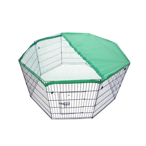 8-Panel-Foldable-Pet-Playpen-42-034-w-Cover-GREEN