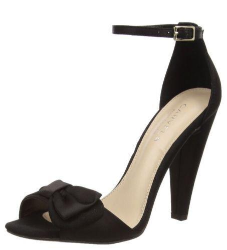 Carvela kg taille 3 5 6 cady satin noir talon haut bride cheville chaussures sandales
