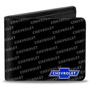 Men Wallet Bifold Black Chevy Chevrolet Impala Camaro Cruze Silverado Colorado