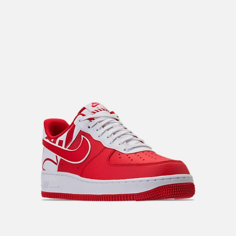 MENS NIKE  AIR FORCE 1'07 SHOES RED / WHITE CASUAL SHOES 1'07 MEN'S SELECT YOUR SIZE f8f0d6