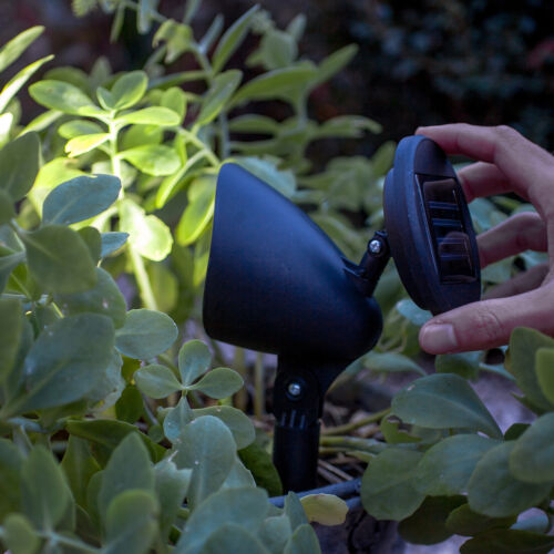 White LED Outdoor Solar Powered Garden Path Spot Light With Adjustable Head
