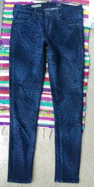 AG Adriano Goldschmied The Legging Ankle Super Skinny Patterned Jeans 26