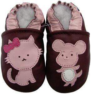 shoeszoo carozoo soft leather infant baby shoes pirate purple 0-6m