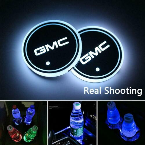 Switchable 7 Color LED Car Cup Holder Bottom Pad Atmosphere Light For ACURA