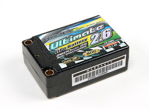 Capable Rc Turnigy Nano-tech Ultimate 2600mah 2s2p 90c Hardcase Lipo Super Shorty Pack Facile à Utiliser