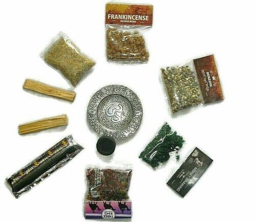 Resin Incense Set 5 Resin Charcoal Tablets,Charcoal Burner Palo Santo