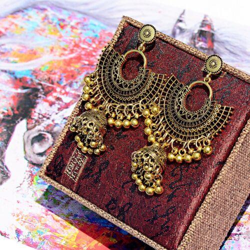 Vintage Style Bohémien Argent Or Big Earring Hook Drop Bell Femme Boucles d/'oreilles