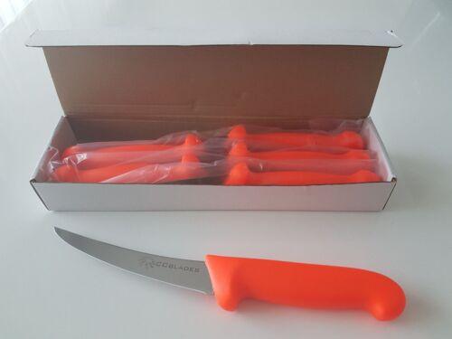 6 Stück CCblades Ausbeinmesser Küchenmesser 1 Karton 15cm flex oranger Griff