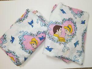 Disney-Princess-Cinderella-Twin-Sheet-Set-Fitted-amp-Flat-Prince-Charming