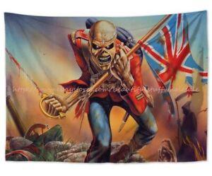 hippie trippy decoration ideas Iron Maiden tapestry cloth poster