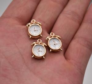 10pcs-3D-Enamel-Alarm-Clock-Charm-Pendant-15-10mm-Fr-DIY-Bracelet-Earring-Making