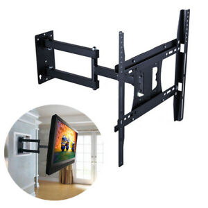 Heavy Duty TV Wall Mount Bracket Long Reach Swivel 22 26 32 40 43 49 50 55 Inch