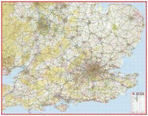A Z Map Of England.Details About South East Central England Road Map By A Z Maps Wall Map Paper 2019