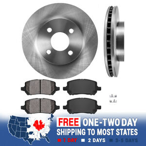 Front-Brake-Rotors-and-Metallic-Pads-For-CHEVY-COBALT-SATURN-ION-PONTIAC-G5