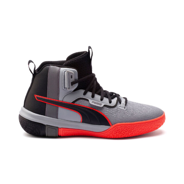 PUMA Men's Legacy Disrupt Puma Black/Red Blast Basketball Shoes 19301801 NEW!