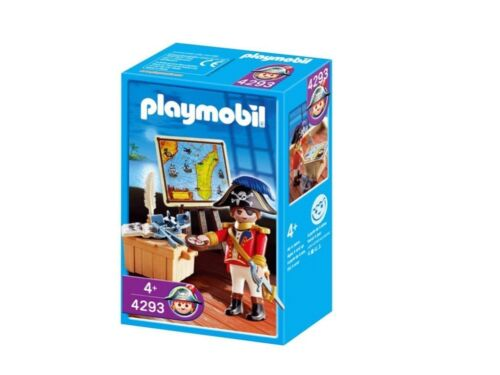 Playmobil Pirate Captain Play Set 4293 NEW NIB Factory Sealed Retired