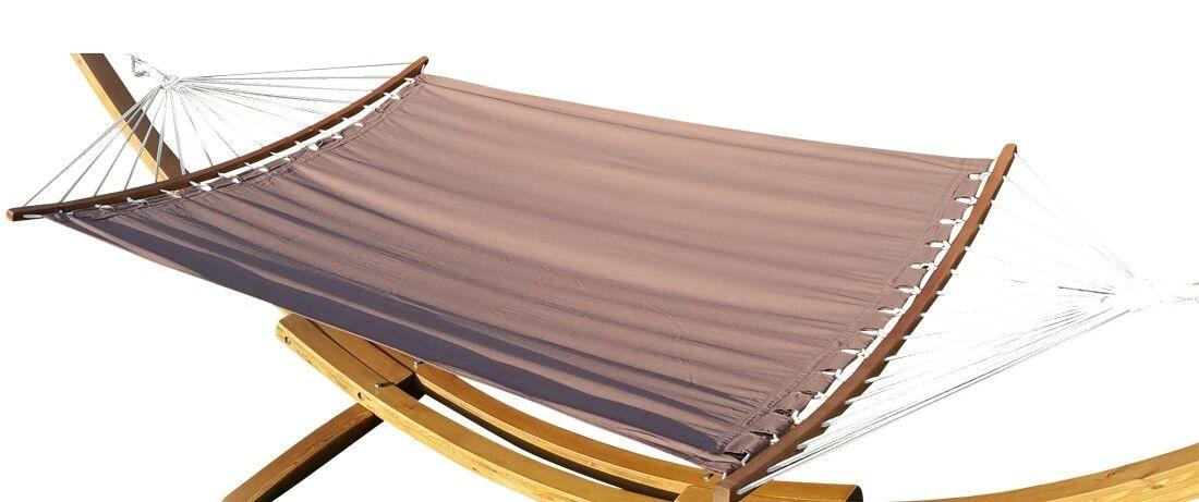 Doppelhängematte Doppelhängematte Doppelhängematte 150x200cm BRAUN aus Baumwolle mit ergonomisch gebogenem Stab     | Elegant Und Würdevoll  dea499