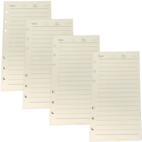 240 Sheets A6 Horizontal Line Paper Refills 6 Hole Punched for 6-Ring Binder