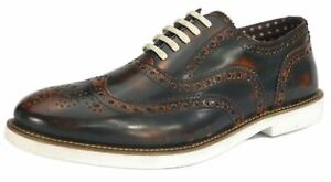 Mens White London Lace Tan Shoes Brogues Formal Farnham EFFwqSY