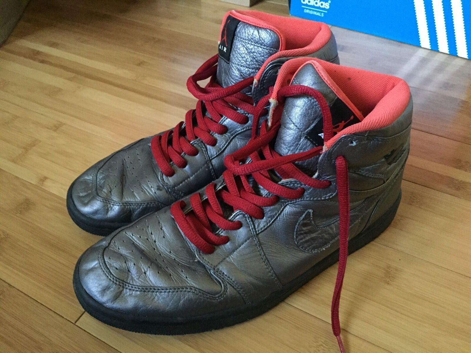 Nike Air Jordan I Price reduction Retro High Premier – Pewter / Black – Max Orange Sz 11 Casual wild
