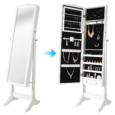 Sortwise 174 Floor Standing Mirror With Jewelry Armoire