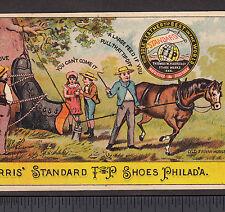 New Holstein WI Farm Horse Fantasy Harris Shoe Philadelphia Advertising Card