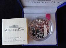1997 SILVER PROOF FRANCE 1O FRANCS COIN BOX + COA  WORLD CUP FRANCE 98 ENGLAND